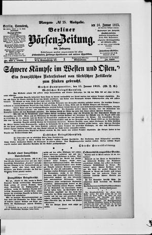 Berliner Börsen-Zeitung vom 16.01.1915