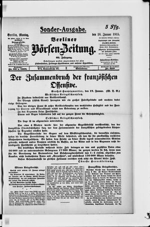 Berliner Börsen-Zeitung vom 18.01.1915