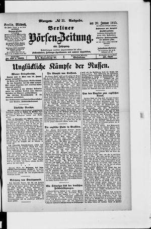 Berliner Börsen-Zeitung vom 20.01.1915
