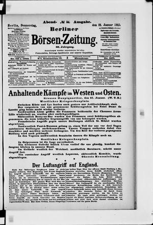 Berliner Börsen-Zeitung vom 21.01.1915
