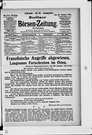 Berliner Börsen-Zeitung vom 22.01.1915