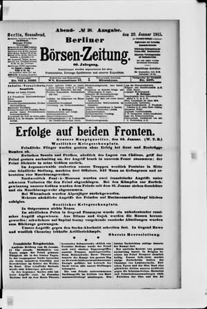 Berliner Börsen-Zeitung on Jan 23, 1915