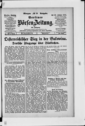 Berliner Börsen-Zeitung vom 24.01.1915