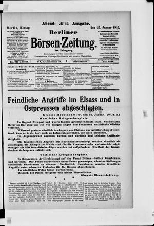 Berliner Börsen-Zeitung vom 25.01.1915