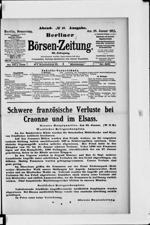 Berliner Börsen-Zeitung vom 28.01.1915