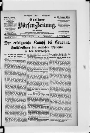 Berliner Börsen-Zeitung vom 29.01.1915
