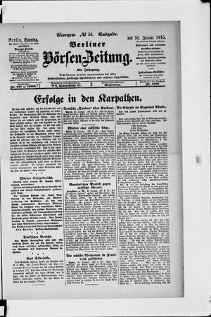 Berliner Börsen-Zeitung vom 31.01.1915