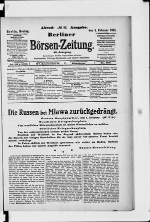 Berliner Börsen-Zeitung vom 01.02.1915