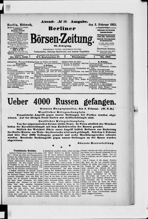 Berliner Börsen-Zeitung vom 03.02.1915