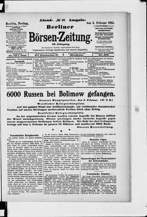 Berliner Börsen-Zeitung vom 05.02.1915