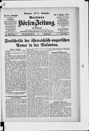 Berliner Börsen-Zeitung vom 06.02.1915