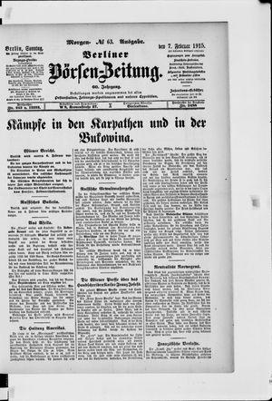 Berliner Börsen-Zeitung vom 07.02.1915