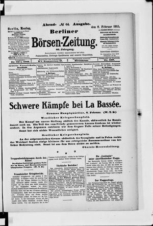 Berliner Börsen-Zeitung vom 08.02.1915