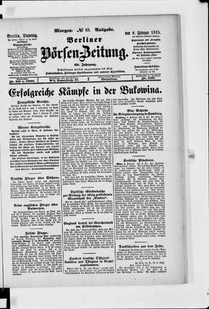 Berliner Börsen-Zeitung vom 09.02.1915