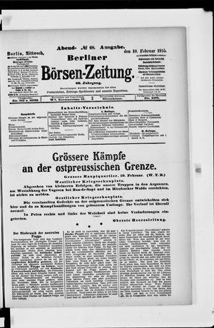 Berliner Börsen-Zeitung vom 10.02.1915