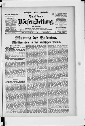 Berliner Börsen-Zeitung vom 11.02.1915