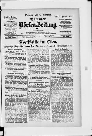 Berliner Börsen-Zeitung vom 12.02.1915
