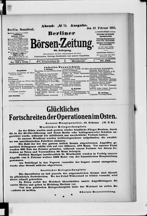 Berliner Börsen-Zeitung vom 13.02.1915