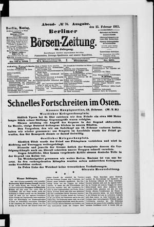 Berliner Börsen-Zeitung vom 15.02.1915