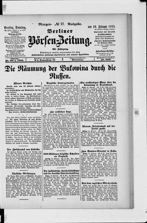 Berliner Börsen-Zeitung vom 16.02.1915