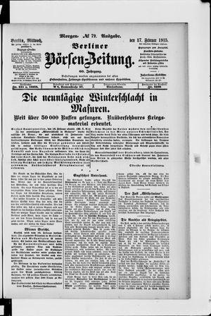 Berliner Börsen-Zeitung vom 17.02.1915
