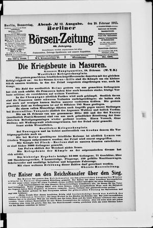 Berliner Börsen-Zeitung vom 18.02.1915