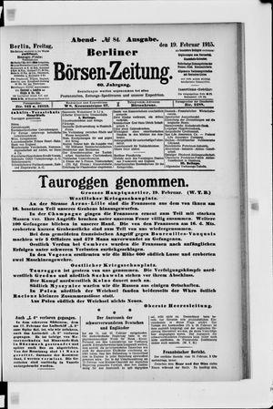 Berliner Börsen-Zeitung vom 19.02.1915