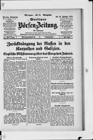 Berliner Börsen-Zeitung vom 20.02.1915