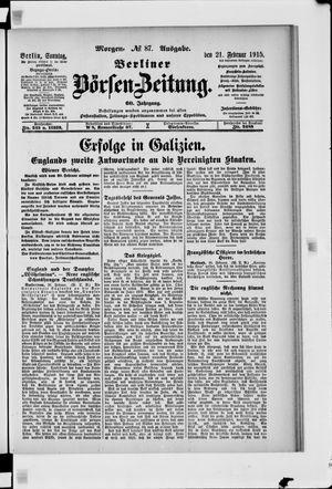 Berliner Börsen-Zeitung vom 21.02.1915