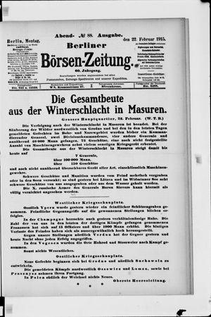 Berliner Börsen-Zeitung vom 22.02.1915