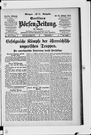 Berliner Börsen-Zeitung vom 24.02.1915