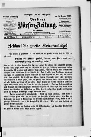 Berliner Börsen-Zeitung vom 25.02.1915