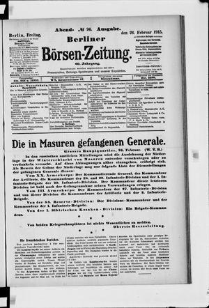 Berliner Börsen-Zeitung vom 26.02.1915