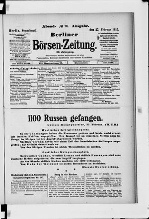 Berliner Börsen-Zeitung vom 27.02.1915