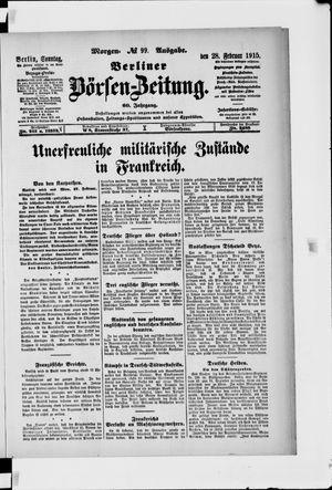 Berliner Börsen-Zeitung vom 28.02.1915