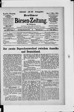 Berliner Börsen-Zeitung vom 02.03.1915