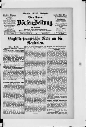 Berliner Börsen-Zeitung vom 03.03.1915