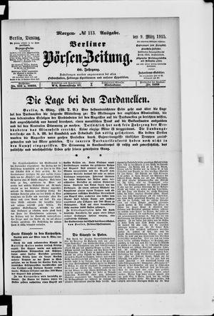 Berliner Börsen-Zeitung vom 09.03.1915