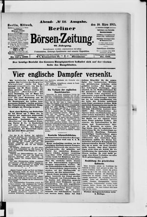Berliner Börsen-Zeitung vom 10.03.1915