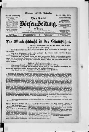Berliner Börsen-Zeitung on Mar 11, 1915
