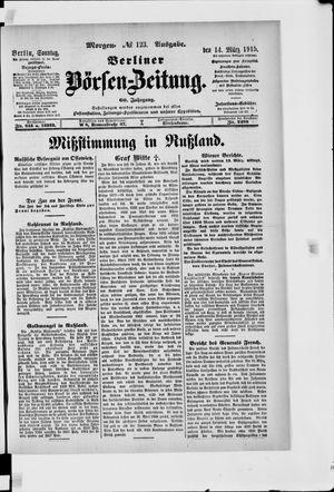 Berliner Börsen-Zeitung vom 14.03.1915