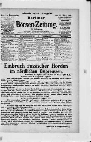 Berliner Börsen-Zeitung vom 18.03.1915