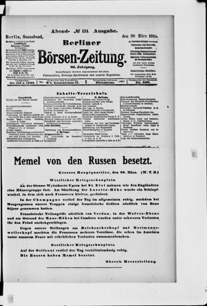 Berliner Börsen-Zeitung vom 20.03.1915