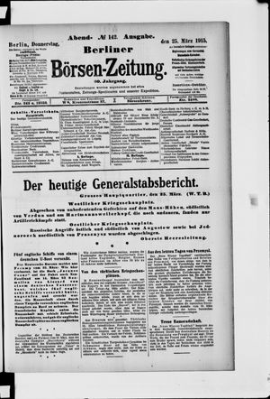 Berliner Börsen-Zeitung vom 25.03.1915
