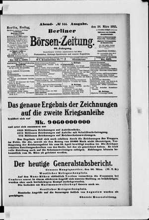 Berliner Börsen-Zeitung vom 26.03.1915