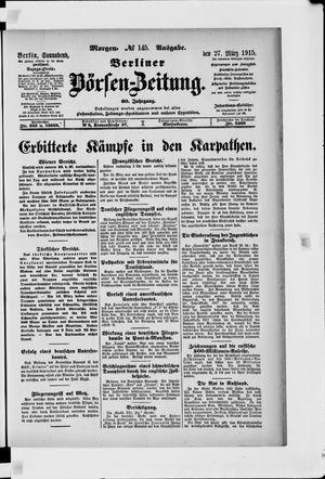Berliner Börsen-Zeitung vom 27.03.1915