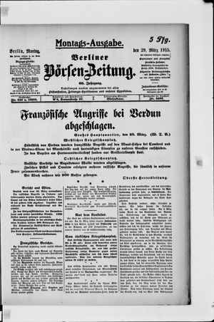 Berliner Börsen-Zeitung vom 29.03.1915