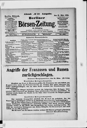 Berliner Börsen-Zeitung vom 31.03.1915