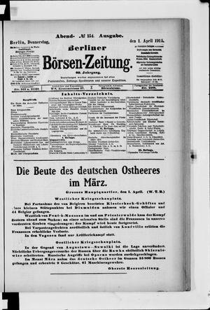 Berliner Börsen-Zeitung vom 01.04.1915