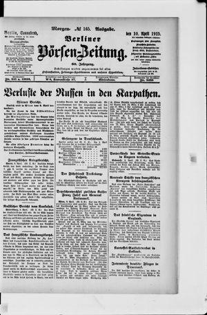 Berliner Börsen-Zeitung vom 10.04.1915